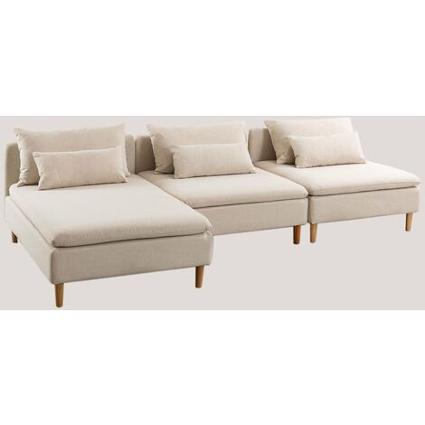 SKLUM Sofá Modular Chaise Longue de 3 Plazas (3 módulos) Javir