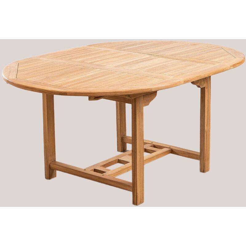 Table de jardin extensible en bois de teck (120-170x120 cm) Pira Bois de Teck bois de teck - bois de teck bois de teck - Sklum