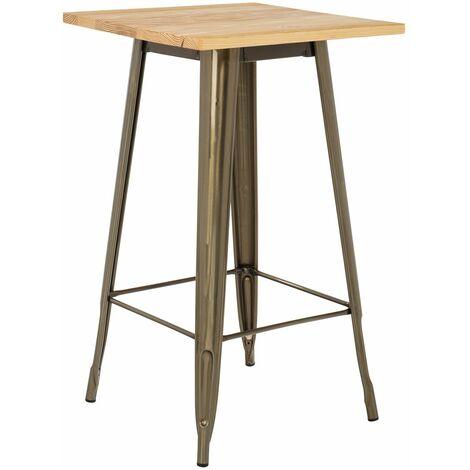 SKLUM Table Haute LIX Brossée en Bois