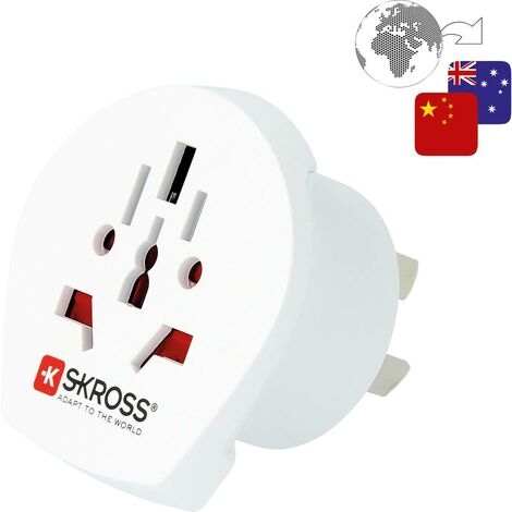 Skross 1.500222-E Adattatore da viaggio CA W to AUS/CHINA