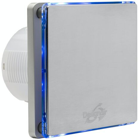 SKSL04-01 W LED INOX BATHROOM EXTRACTOR FAN