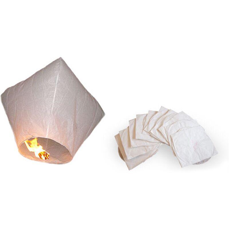 Image of 10 x Sky Lanterns White Rice Paper 95 x 53 cm