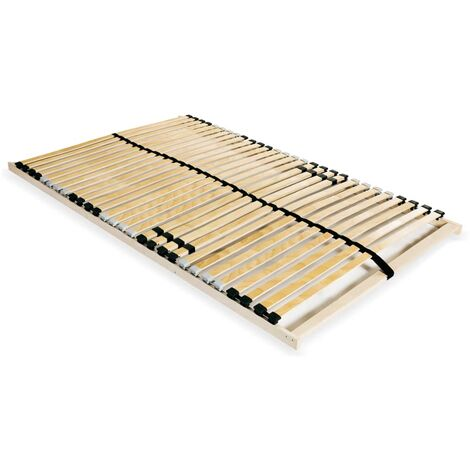Slatted Bed Base with 28 Slats 7 Zones 140x200 cm