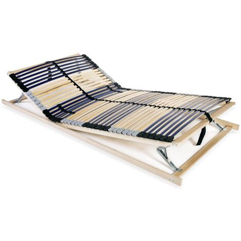 Slatted Bed Base with 42 Slats 7 Zones 100x200 cm
