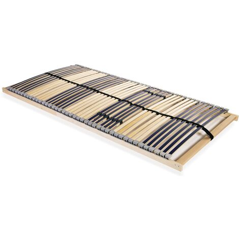 Slatted Bed Base with 42 Slats 7 Zones 120x200 cm
