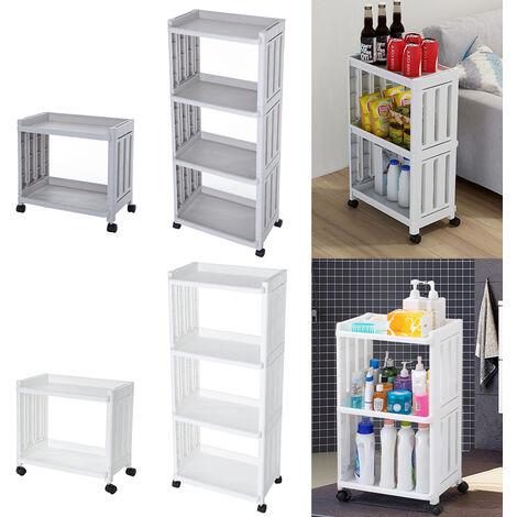 Slide Out Kitchen Trolley Cart Storage Holder Rack Bathroom Corner Shelf Unit