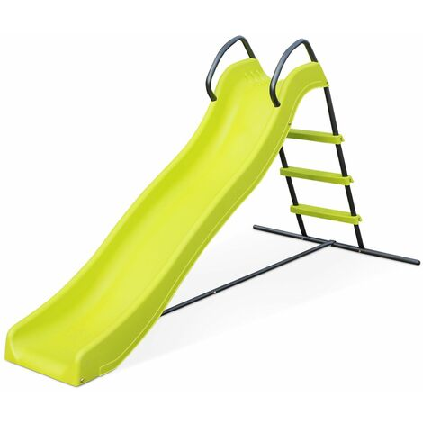 Slide - Sirocco - Double wave slide in green, length 185cm, garden play set.