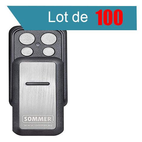 SLIDER PLUS S10305 Télécommande 4 canaux SOMMER Pack de 100 - SOMMER