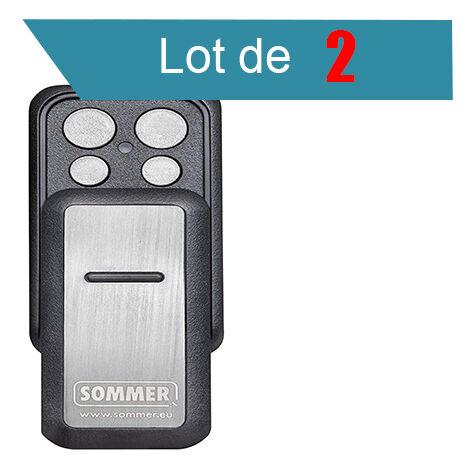 SLIDER PLUS S10305 Télécommande 4 canaux SOMMER Pack de 2 - SOMMER