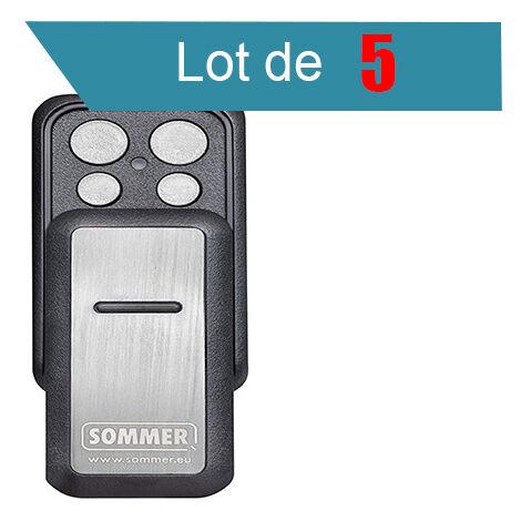 SLIDER PLUS S10305 Télécommande 4 canaux SOMMER Pack de 5 - SOMMER