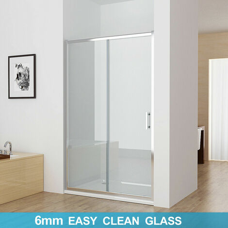 Sliding Shower Door Bathroom Easy Clean Nano Glass Screen Shower Enclosure Cubicle - No Tray