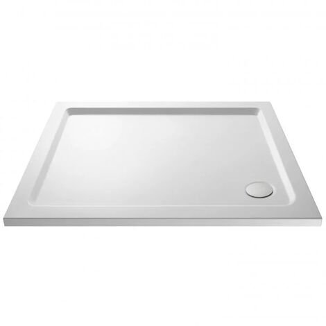 Slim 1100 x 900 Rectangular Stone Resin Shower Tray For Wetroom Enclosure