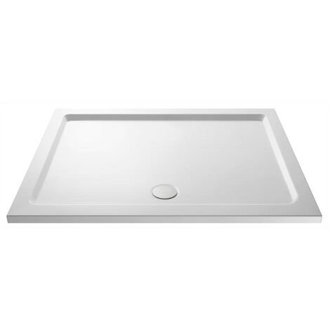 Slim 1600 x 700 Rectangular Stone Resin Shower Tray For Wetroom Enclosure