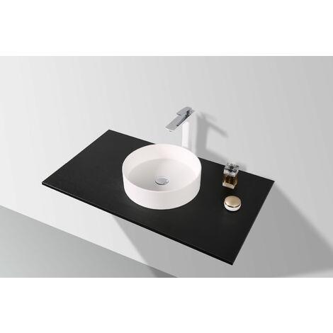Slim-Design Mineralguss-Aufsatzwaschtisch MAW2365