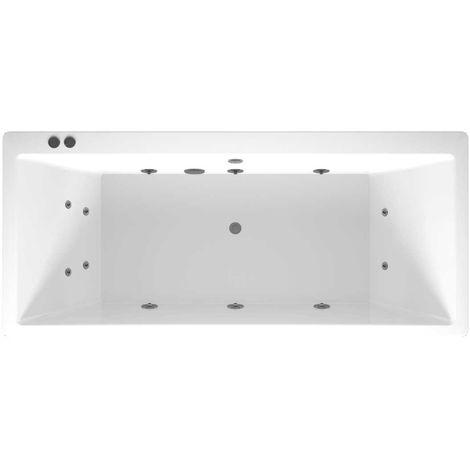 Slim Edge Centre Tap 12 Jet Chrome V-Tec Whirlpool Bath 1700x750mm