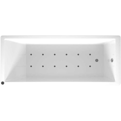 Slim Edge End Tap 12 Jet Chrome Easifit Spa Whirlpool Bath 1700x700mm