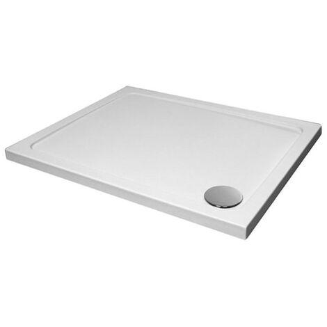 Slimeline 1100 x 760 Rectangle Bathroom White Shower Tray Stone Resin