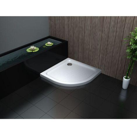 Slimline Low Profile 40mm Acrylic Quadrant shower enclosure tray 800mm