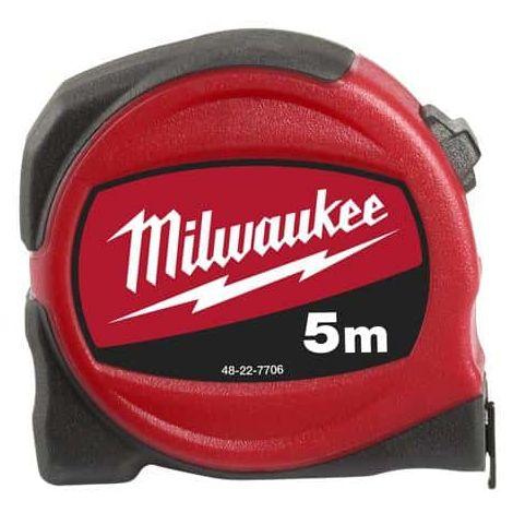 Slimline tape measure MILWAUKEE 5m width 25mm - 48227706