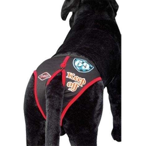 Slip-Dog Hundehosen | Beleg schwarzer Hund | Braguita Hunde für Größe XS