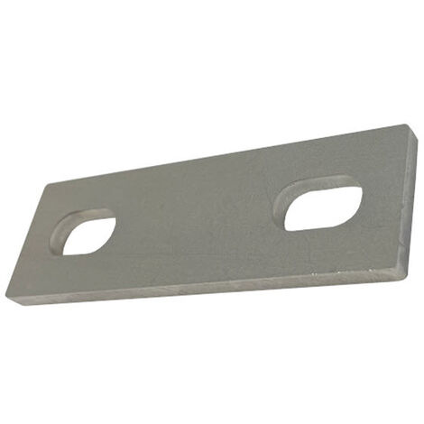 """main image of """"Slotted backing plate for M12 U-bolt (49 - 79 mm ID) T316 Stainless Steel"""""""