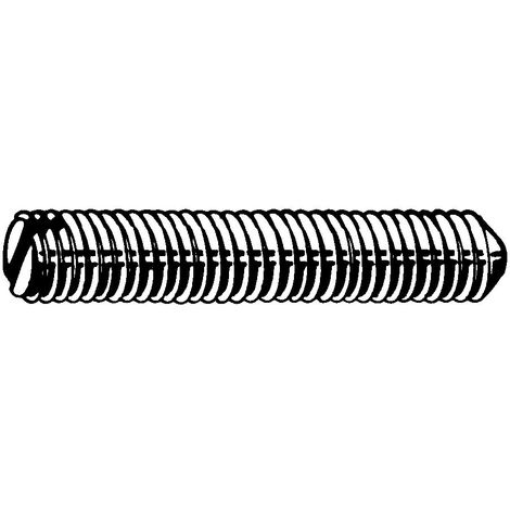 Slotted set screw with cone point DIN 553 Steel Plain 14H