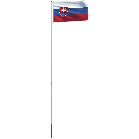 Slovakia Flag and Pole Aluminium 6 m