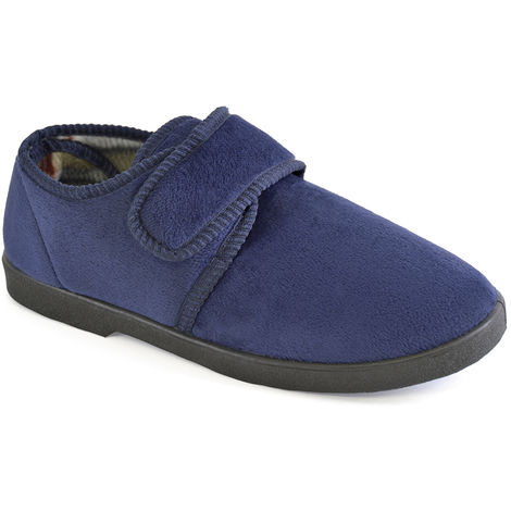 SlumberzzZ Mens Fleece Lined Smooth Microsuede Mule Slippers