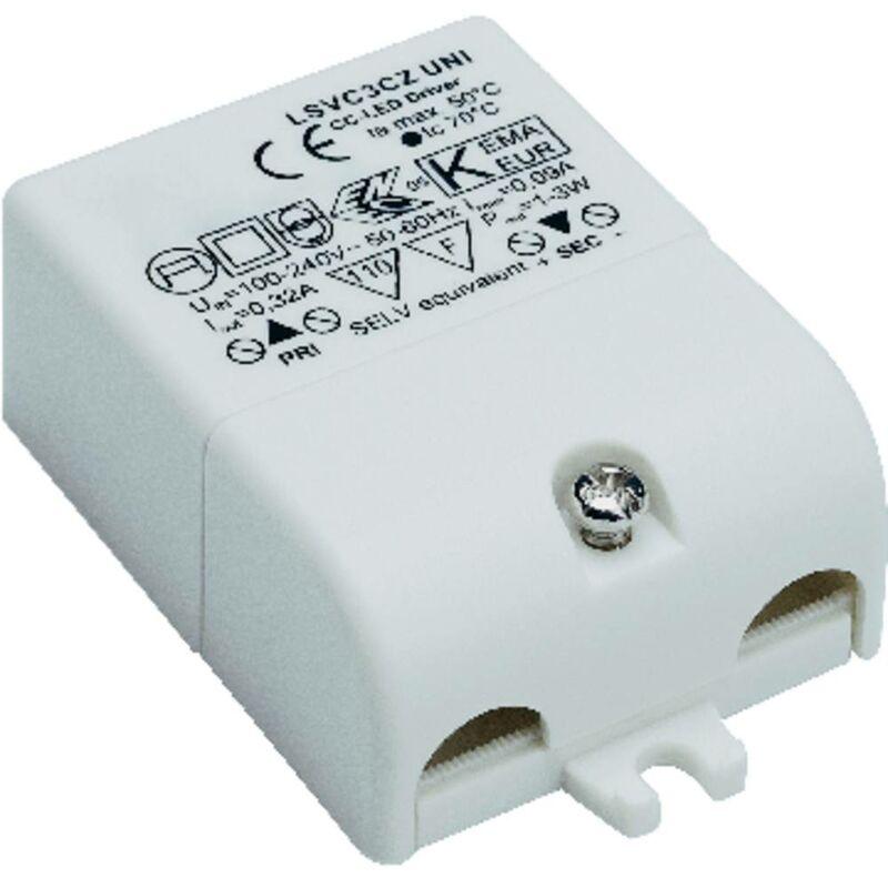 Driver per LED Corrente costante 3 W 0.32 A 3 - 9 V/DC non dimmerabile, Protezione sovraccarico, adatto per mobili - SLV