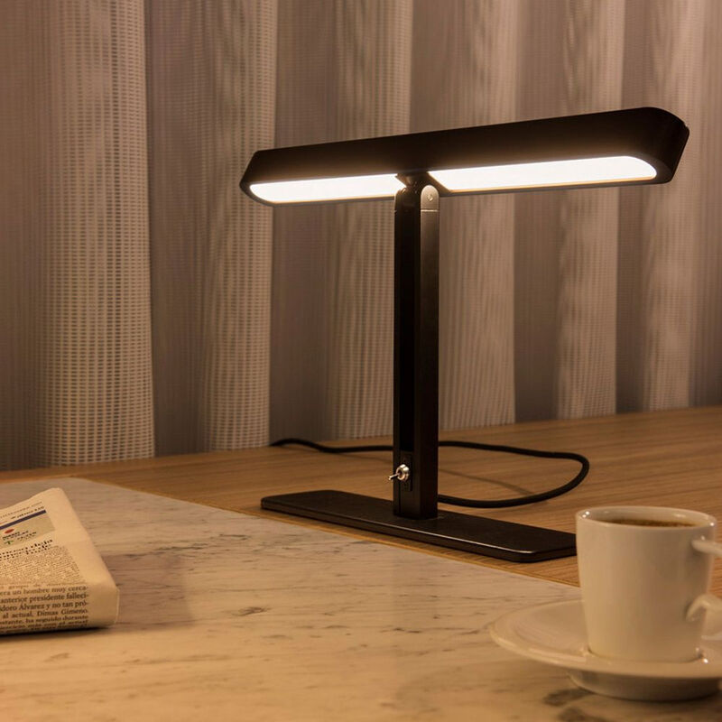 LED Tischleuchte Vincelli 2, 2700K, Bambus dunkel