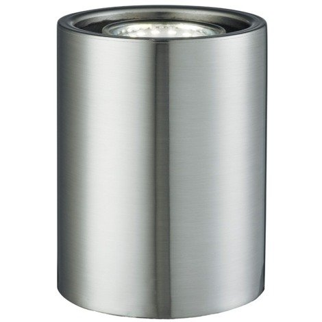 Small and Contemporary Satin Chrome LED Table/Floor Lamp Uplighter by Happy Homewares