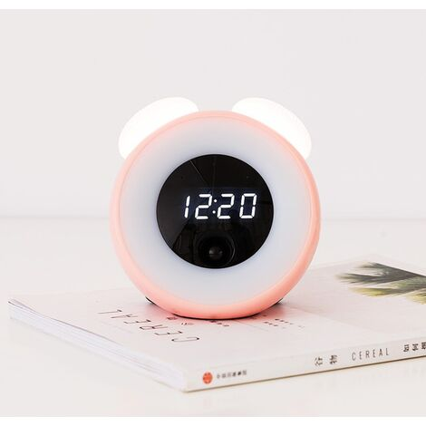 Small awakening light LED induction electronic little alarm clock child childhood room