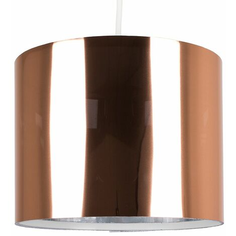 Small Ceiling Pendant / Table Lamp Light Shade Copper Finish
