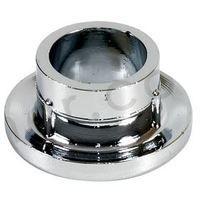 Small Chromed Rosette Rose Collar for Bathroom Sink Basin Overflow 15mm Diameter