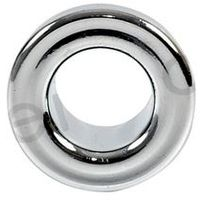 Small Chromed Rosette Rose Collar for Bathroom Sink Basin Overflow 19mm Diameter