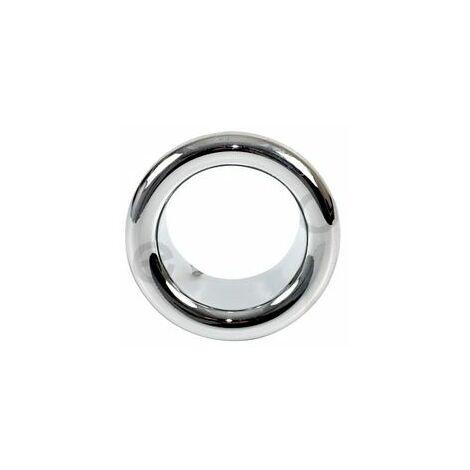 Small Chromed Rosette Rose Collar for Bathroom Sink Basin Overflow 21mm Diameter
