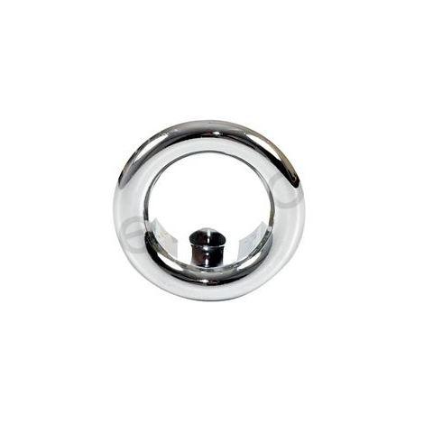 Small Chromed Rosette Rose Collar for Bathroom Sink Basin Overflow 25mm Diameter