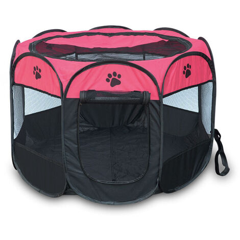Small Dog pen Carola - dog playpen, puppy pen, puppy playpen - red