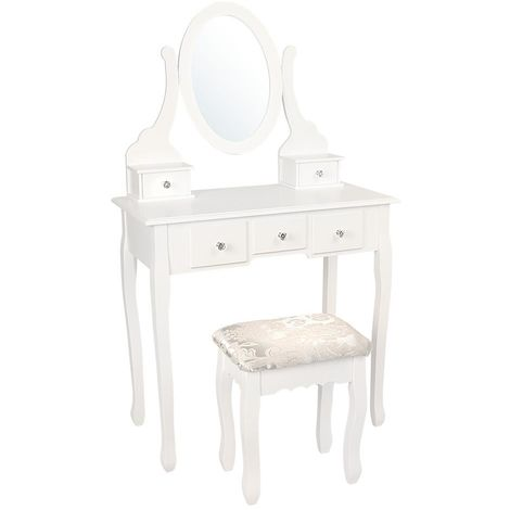 Small Dresser With Mirror And Stool