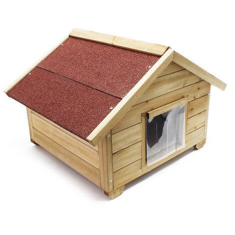 Small, full isulated wooden cathouse for outdoor use