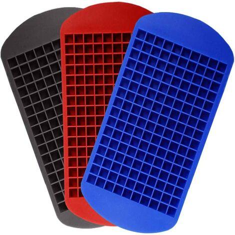 Small ice tray, mini ice cube mold 160 core, silicone ice cube tray, food grade silicone ice mold (3 pieces