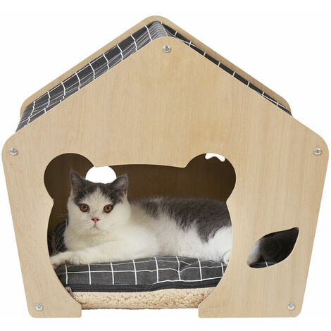 Small Indoor Fabric Pet Cat Puppy Dog Hide-and-seek House Shelter Kennel Bed Cave