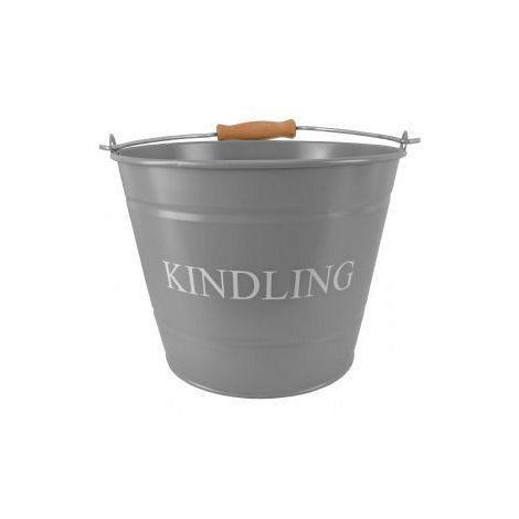 Small Kindling Bucket Grey
