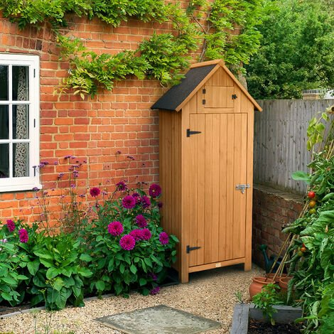 Small Narrow Garden Shed With Roof Hatch
