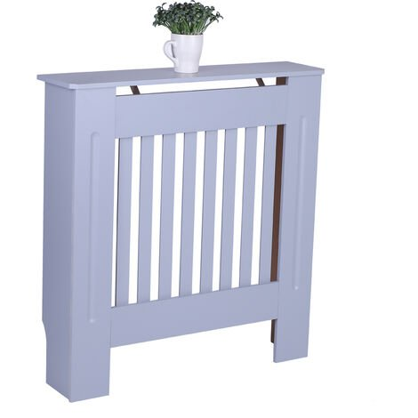 Small Radiator Cover White Painted Wall Cabinet Wood MDF Heating Covers Shelf - Different colours
