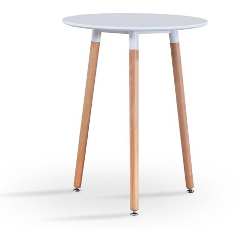 Small Round Dining Table - White