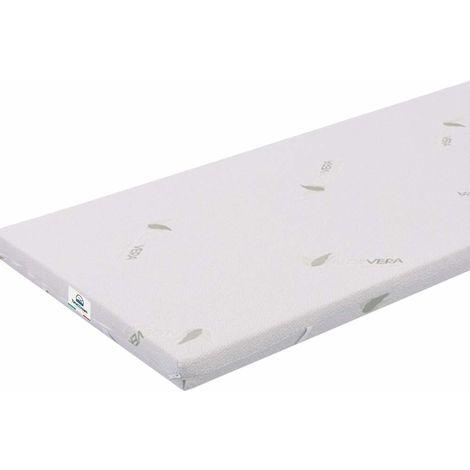 Small Single 80X190 3 cm Memory Foam Mattress Topper Aloe with Vera Coating TOP3