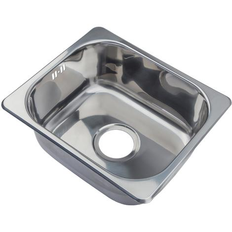 Swell Small Single Bowl Matt Brushed Stainless Steel Inset Mount Kitchen Sink A11 Bs Home Interior And Landscaping Palasignezvosmurscom