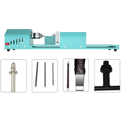 """main image of """"Small Size Home Household Wood Working Turning Lathe Multifunction Infinitely Variable Speed Cutting Grinding Drilling Tools,model: 1"""""""