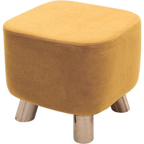 Small Square Stool Velvet Padded Footstool Footrest Pouffe Kids Children Seat